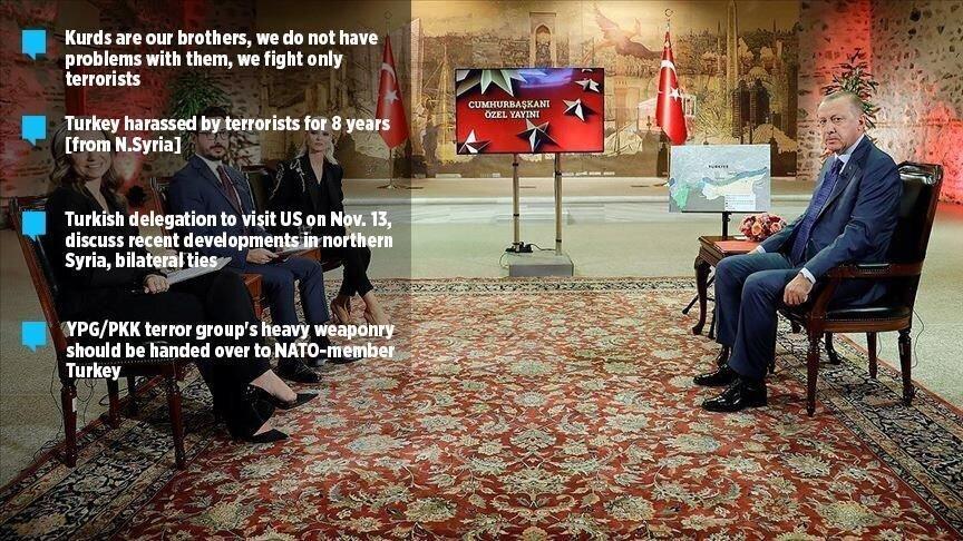 درخواست اردوغان از آمریکا برای تحویل سردسته کردهای سوریه