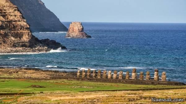 راز مجسمه های سنگی عجیب در جزیره ایستر چیست؟
